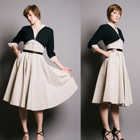 Marquise New Look Vintage 1950s Colorblock Dress