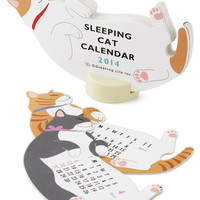 Year of the Critter 2014 Calendar in Sleepy Cat | Mod Retro Vintage Desk Accessories | ModCloth.com