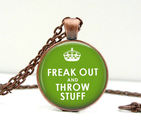 Freak Out &amp; Throw Stuff Necklace Glass Picture by Lizabettas