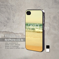 Paradise Beach retro iPhone 5, iPhone 4/4S, Samsung Galaxy S2, Samsung Galaxy S3 , Samsung Galaxy S4, Blackberry Z10 Hard Case Black / White