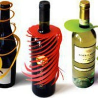 Wine Bottle decorations from t?t-tat