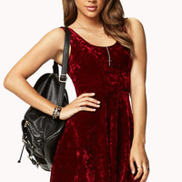Velveteen Skater Dress