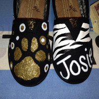 The Bulldogs - Bulldog Mascot Inspired Youth Custom TOMS Shoes