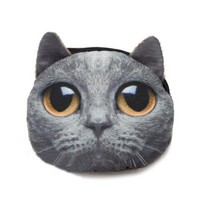 ZLCY Super Cute Cat Zip Purse for Women