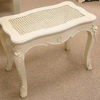 Dressing Table STOOL in cream - Melody Maison