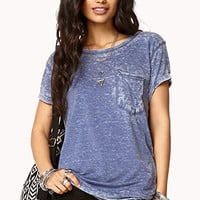 Acid Wash Slouchy Tee | FOREVER 21 - 2000076118