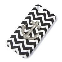 Crystal Anchor and Chevron Stripes Cover for iPhone 5  | Icing