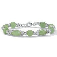Green jade-link bracelet at Newport-News.com