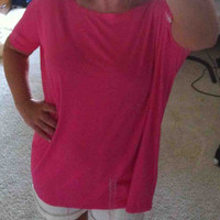 Hot pink piko top