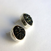 Drusy Deluxe Simple Black Drusy Bezel by RachelPfefferDesigns