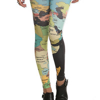 Map Leggings | Hot Topic