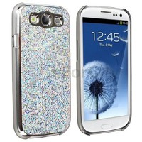 Silver Luxury Bling Glitter Coated Case Cover for Samsung Galaxy S3 III I9300:Amazon:Cell Phones & Accessories