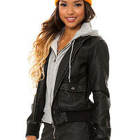 The Obey Jacket Jealous Lover in Black Heather Grey