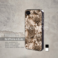 mask Bali art iPhone 5, iPhone 4/4S, Samsung Galaxy S2, Samsung Galaxy S3 , Samsung Galaxy S4, Blackberry Z10 Hard Case Black / White