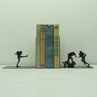 Football Metal Art Bookends  Free USA by KnobCreekMetalArts