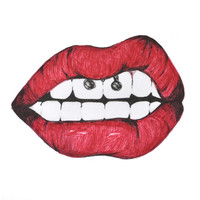 Lips 02. Art Print by Mariam Tronchoni