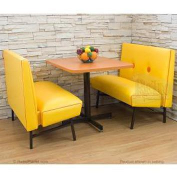 Booth Set Orange Kitchen Dining Seating Retro Furniture, RetroPlanet.com