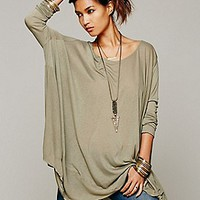 Free People Womens Drip To The Hip Tee -