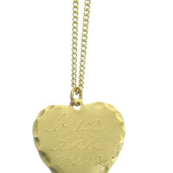 BLESS THIS MESS HEART NECKLACE