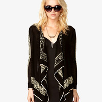 Metallic Baroque Cardigan