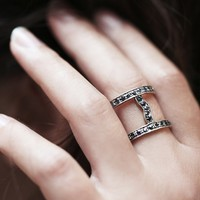 Free People Caged Stone Ring