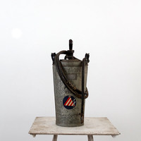 Antique Hand Fire Extinguisher / The Fire Fighter