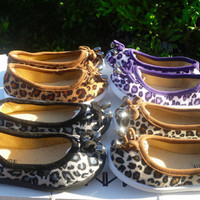 New toddler girls leopard flats many sizes and colors