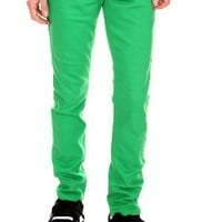 RUDE Kelly Green Skinny Fit Denim Jeans