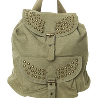 Studded Canvas Backpack | Shop Just Arrived at Wet Seal