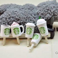 10pcs Starbucks Coffee Cup 3.5mm Anti Dust Earphone Jack Plug Stopper Cap for Iphone HTC:Amazon:Cell Phones & Accessories