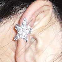 Sparkly Starfish Ear Cuff by deniserose on Zibbet