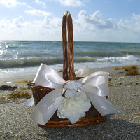 Beach Wedding Seashell Flower Girl Basket-Weddings, Nautical Weddings, Seashell Home Decor, Weddings, Mermaid Birthday Decor,