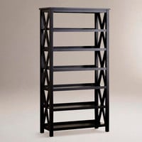 Antique Black Verona Six-Shelf Bookcase | World Market