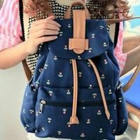 Cute Canvas School Backpack with Anchor HVB740 from topsales