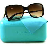 Tiffany  Co TF4043B Sunglasses (80153B) Dark Havana Brown Gradient, 56 mm