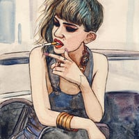 Grimes Art Print by Helen Green