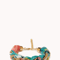 Sweet Floral Braided Bracelet