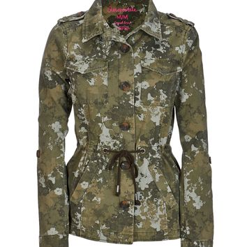 Floral Camo Anorak Jacket
