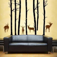 Vinyl Wall  Art  Decal   Deer ForestWall Art Home Decor by WowWall
