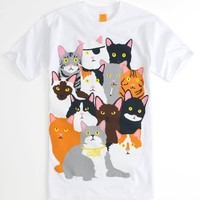Enjoi Mens Cat Collage Tee