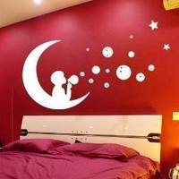 Vinyl Wall Art Decal  MOON BOY Wall Art by WowWall