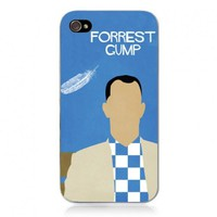 Generic Movie Theme Collection Case For iPhone 4/4S- Forrest Gump Color Blue