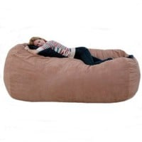 7-feet Xx-large Rust Cozy Sac Foof Bean Bag Chair Love Seat:Amazon:Home & Kitchen
