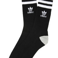 Adidas Socks Originals Roller Crew in Black and White