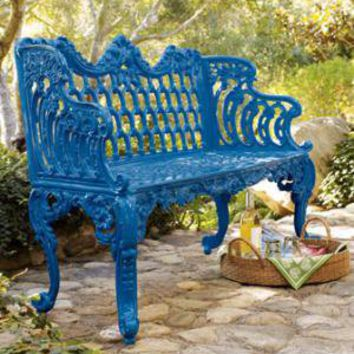 Blue Bench - Horchow