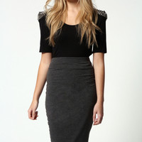 Maddy Jersey Midi Length Tube Skirt