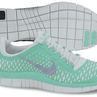 Nike Lady Free 3.0 V4 Running Shoes - 9 - Green