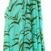 Ramona LaRue - Tara Dress Green Splatter Birds Print | ShopMiamiStyle