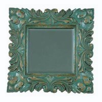 Baroque Cyan Blue Decorative Mirror
