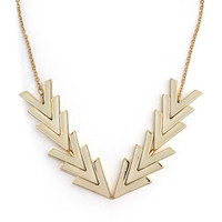 Gilded Points Necklace